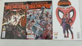 Hqs Marvel Guerras Secretas 1 E 2, Homem Aranha 1