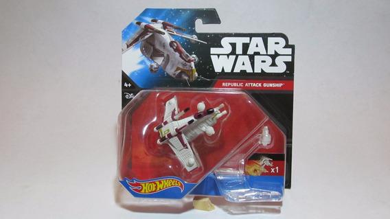 Nave Star Wars Republic Attack Gunship Hot Wheels (hq)