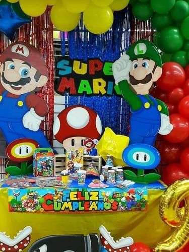 Kit Piñata Mario Bros Fiesta Cumpleaños + Obsequio X 24 Inv