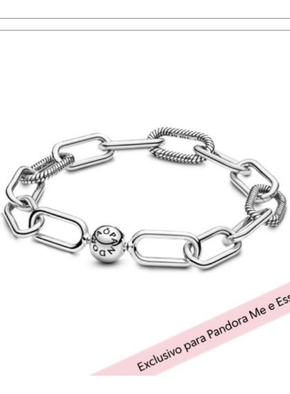 Bracelete Pandora Me Link Prata 925s 16cm 17cm E 20cm