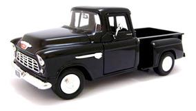 Miniatura Motormax 1:24 Chevy 5100 Stepside 1955 Preta