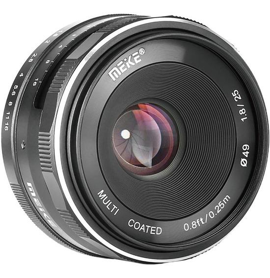 Lente Meike 25mm F/1.8 Para Sony E-mount Aps-c Foco Manual Nex 3 5 6 7 A5000 A5100 A6000 A6100 A6300 A6400 A6500 5000