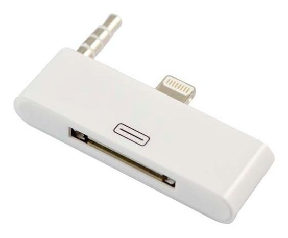 Adaptador Dock Station Audio 30 Para 8 Pinos iPhone 5 5c 5s