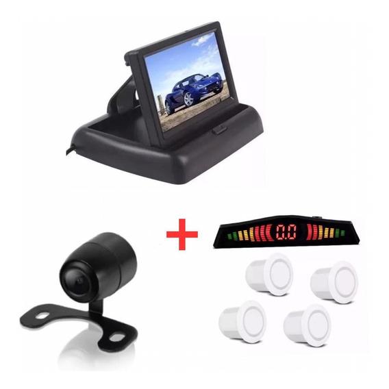 Kit Monitor Retrátil + Sensor Branco + Câmera Santa Fé