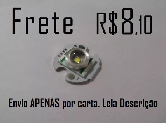 Led Cree Xre Q5 Original 14mm Ou 16mm Pcb 3w Pequeno 15mm
