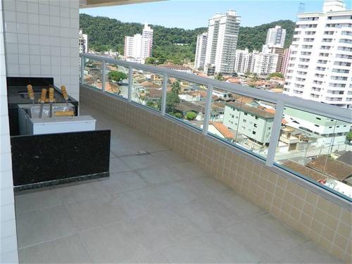 Apartamento 2 Dormitorios, 1 Suite, 1 Vaga De Garagem No Canto Do Forte Em Praia Grande. - Som95