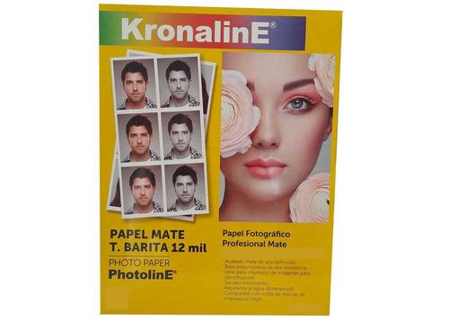 Papel Fotografico Kronaline Pb100 Barita Mate Carta 100h 260