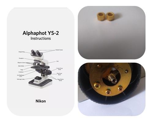 Engrenagem Do Micrométrico Nikon Alphaphot.duas Unidades.