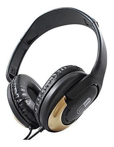 Fone De Ouvido Dobravel Com Haste Ajustavel Hp350 Gold