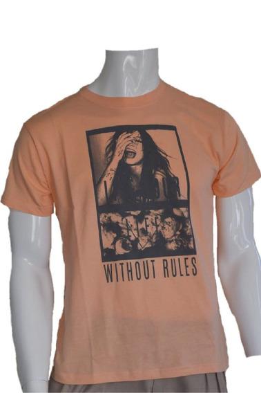 Remera T-shirt 100% Algodón Estampado Without Rules - Mira