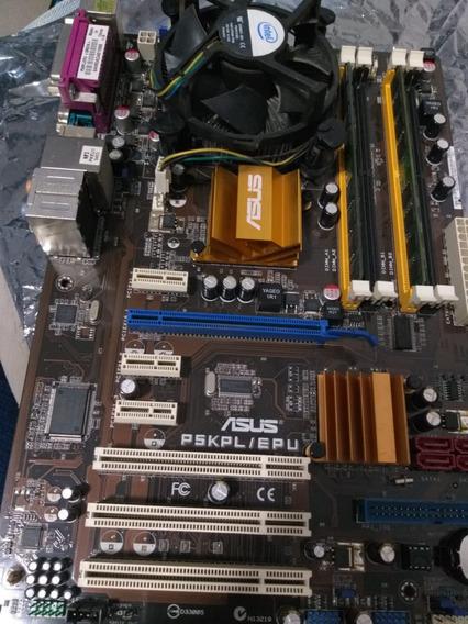 Kit Placa Asus + Pentium E5400 + 4gb Ram