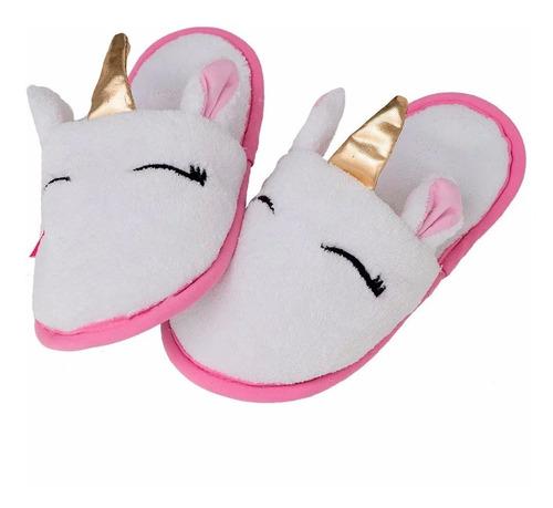 Imagen 1 de 1 de Pantuflas Unicornio Para Mujer Calientitas Comodas Y Suaves
