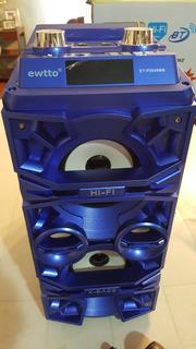 Parlante Con Bluetooth Ewtto 2649mb Karaoke Y Microfono.