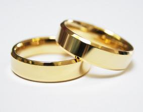 Aliança De Casamento Em Ouro Amarelo 18k-750