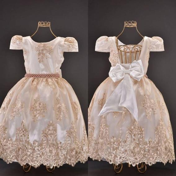 Vestido Realeza Off-white De Luxo