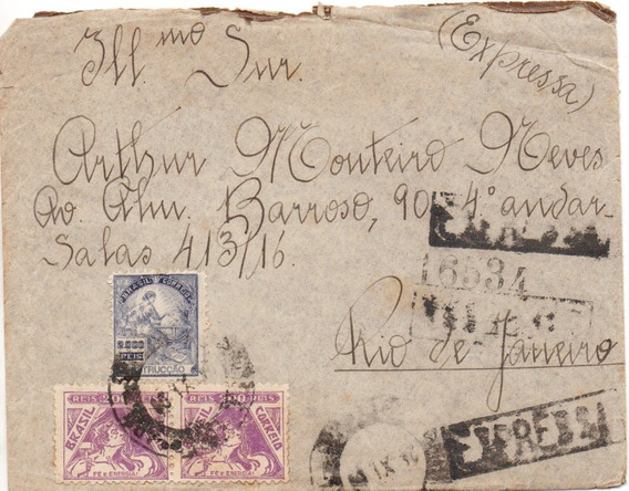 Envelope 1936 Arhur Monteiro Neves, Flamenguista, Com Carta