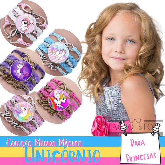 Bracelete Infantil Unicórnio - 2 Cores Disponíveis