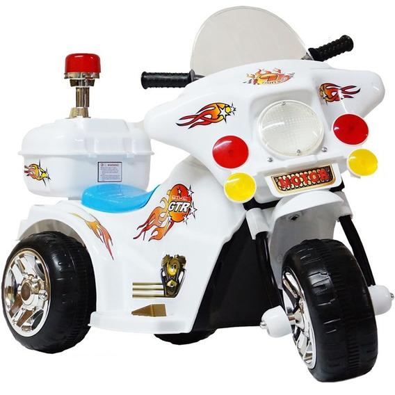 Mini Moto Eletrica Infantil Criança Policia Bw-006 Motoca 6v
