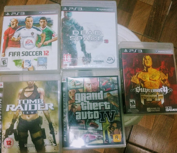 Lote Com 5 Jogos Originais De Playstation3 - Ps3