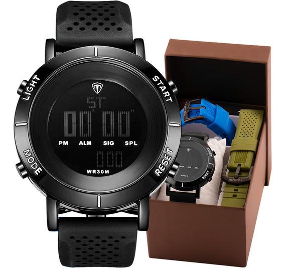 Kit Relógio Masculino Tuguir Original Com Garantia E Nfe