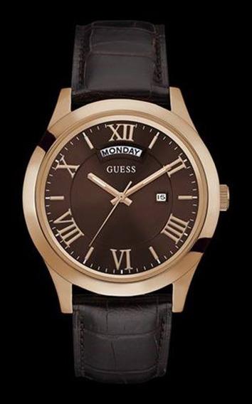 Relógio Guess Masculino Pulseira Couro 92607gpgdrc3