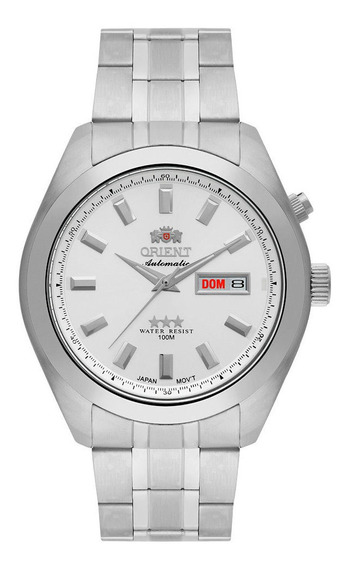 Relógio Orient Masculino Ref: 469ss075 S1sx Diâmetro 43mm