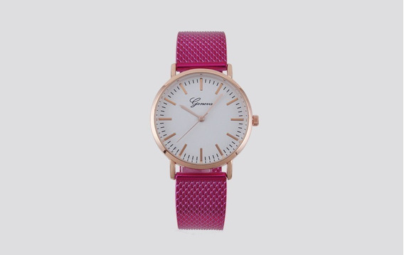 Reloj Mujer Vintage Correa De Malla Estilo Casual Fiusha