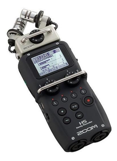 Gravador Digital Zoom H5 4 Canais + Acessorios + Case + 16gb