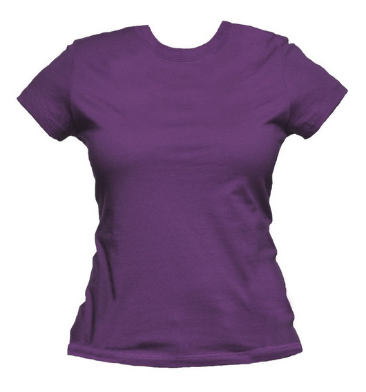 Baby Look Básica Lisa Várias Cores Blusa T-shirt Feminina