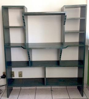 Remato Mueble Librero De Madera Grande Usado