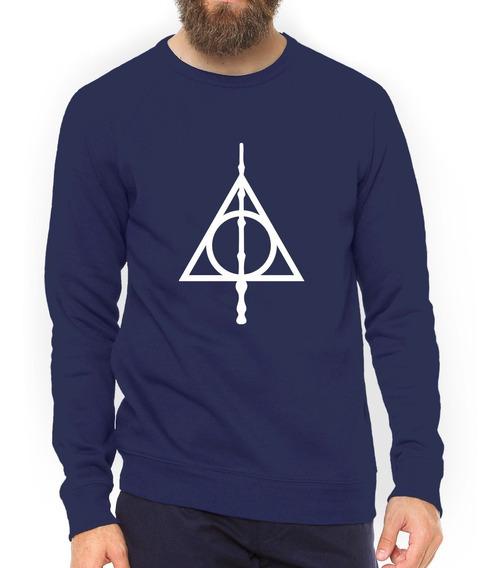 Moletom Harry Potter Relíquias Da Morte Blusa Promoção #gr14