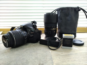 Câmera Nikon D5200 Lente Kit 18-55mm E Lente 55-300mm