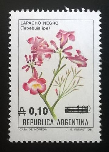 Argentina Flora, Sello Gj 2215 Flor 0,10 A 1986 Mint L11686