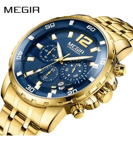 Relógio Megir 2068 Original Dourado