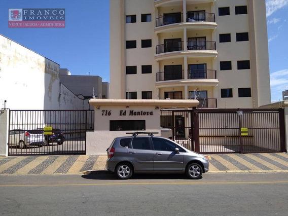Apartamento Com 2 Dormitórios Com Suíte Para Alugar, 70 M² Por R$ 2.100/mês - Edifício Mantova - Valinhos/sp - Ap0343
