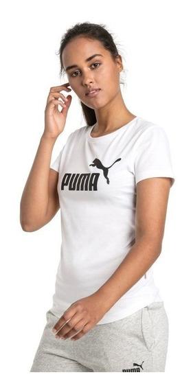 Puma Remera Ess Logo W Blanco