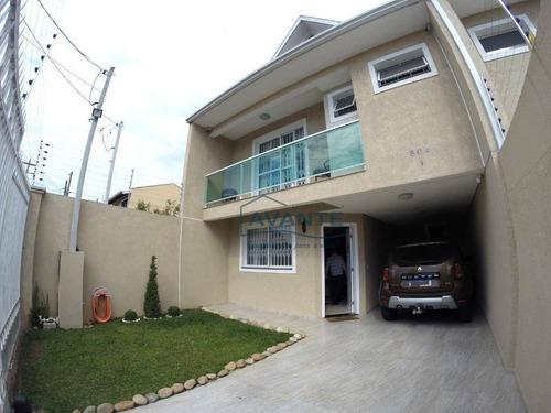 Sobrado Com 3 Dormitórios À Venda, 173 M² Por R$ 720.000,00 - Xaxim - Curitiba/pr - So0837