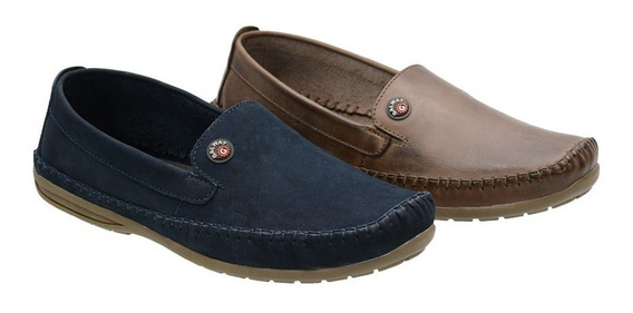 Mocassim Masculino Drive Couro 2 Pares 37 Ao 48 Galway 760nl