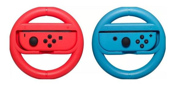Par Volante Nintendo Switch Controle Vermelho E Azul