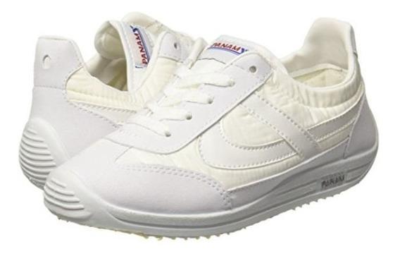 Tenis Panam Blancos Vuelve La Moda Escolar Talla 22 A 26