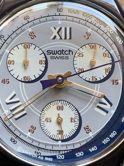 Relogio Swatch,cronografico,ano De 1992,aco E Acrilico.flex