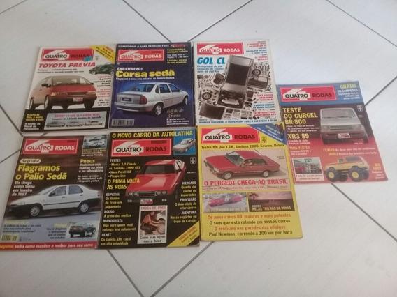 Lote Com 7 Revistas Quatro Rodas Antigas