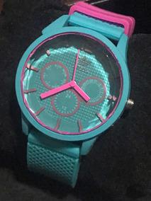 Relógio adidas Verde Com Rosa Borracha