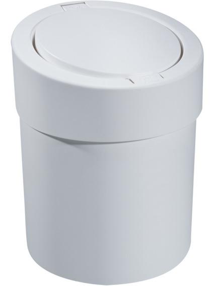 Lixeira Automática 5 Litros Tampa Esconde Sacola Banheiro