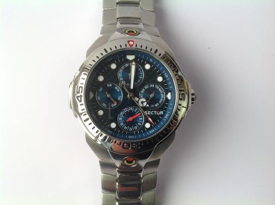 Reloj Sector Multifuncional. Cuarzo. Fibra De Carbono. 40mm