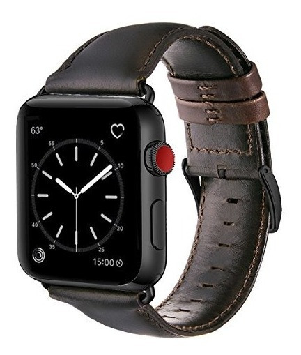 Watch Band 42mm, Ouheng Retro Vintage Genuine Leather