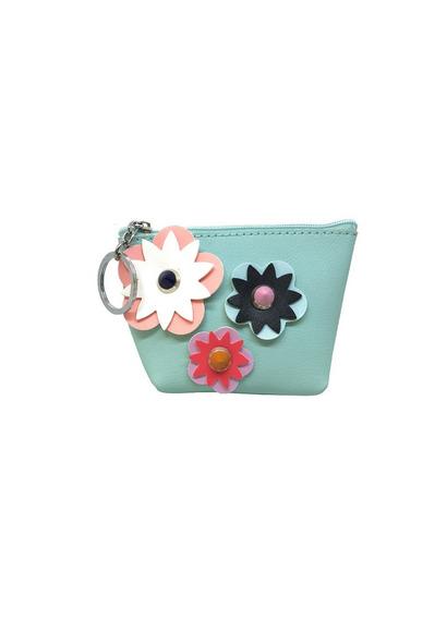 Monedero Mujer Con Flores Ec 026 Ec 027