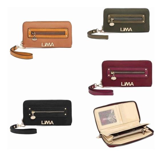 Billetera Fichero I220 Lima Importada Lisa Mujer Mapleweb
