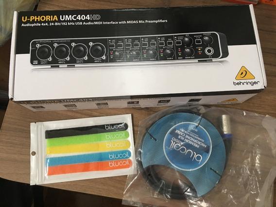 Interface Audio Behringer Umc404hd 4 Canais Novo + Brinde