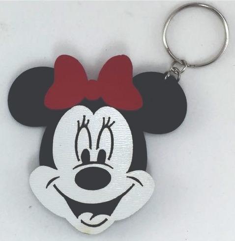 Chaveiros Minnie Personalizados Mdf Lembrancinhas 50un